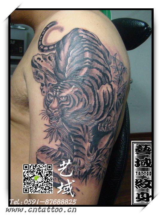 虎纹身-作品展示-作品展示-福州艺域纹身工作室