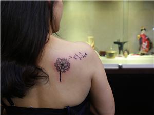 蒲公英纹身图案