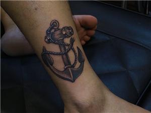 船锚纹身图案