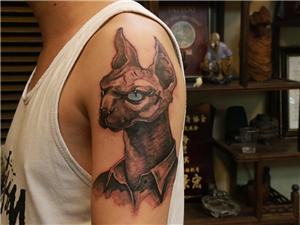 狗头人纹身图案