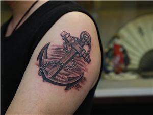 船锚纹身手臂图案