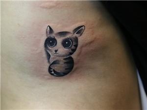 猫纹身图案