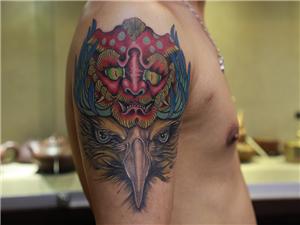 鸡纹身图案