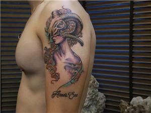 白羊座纹身图案