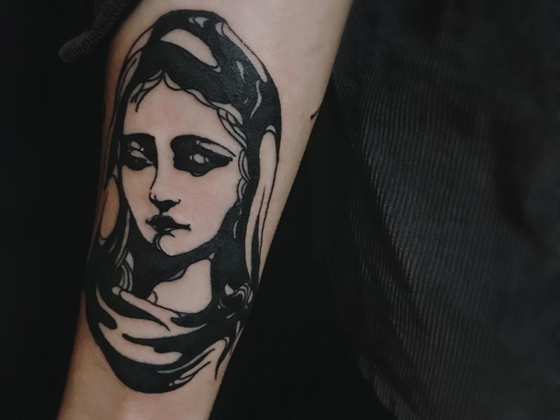 欧美人物纹身图案