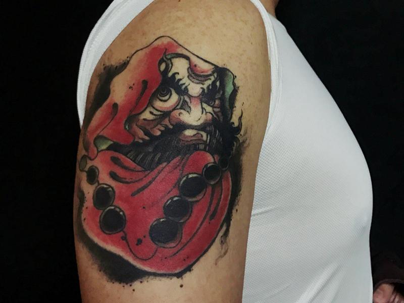 达摩纹身原创纹身图案