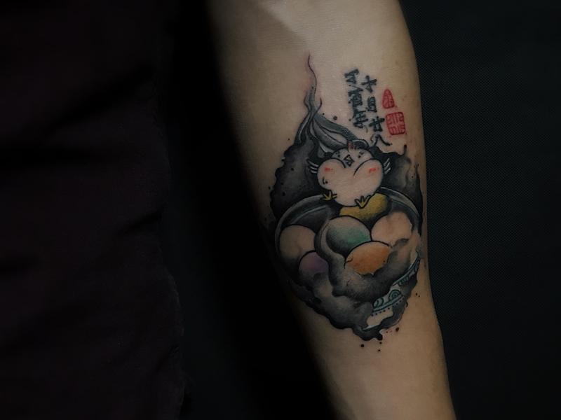 彩蛋纹身原创图案