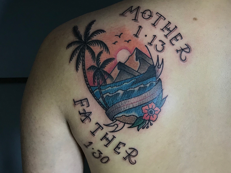 Shool类原创纹身图案