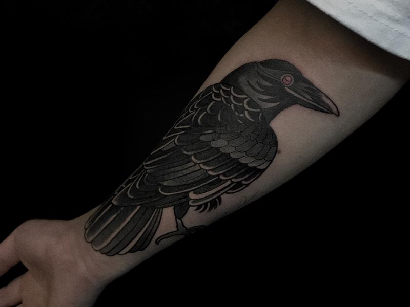 欧美鸟纹身图案